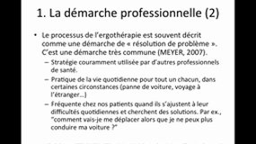UEsp ERGOTHERAPIE - 5 -  Processus d'intervention_L. FIDRY