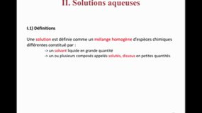 UE2.11-A2 Chimie des solutions - Solutions aqueuses
