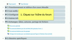 Tutoriel Moodle - participer sur un forum