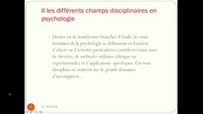 1: Introduction à la psychologie