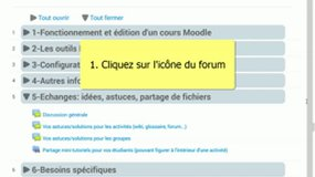 Tutoriel Moodle : participer à un forum